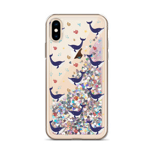 Whale Liquid Glitter Phone Case