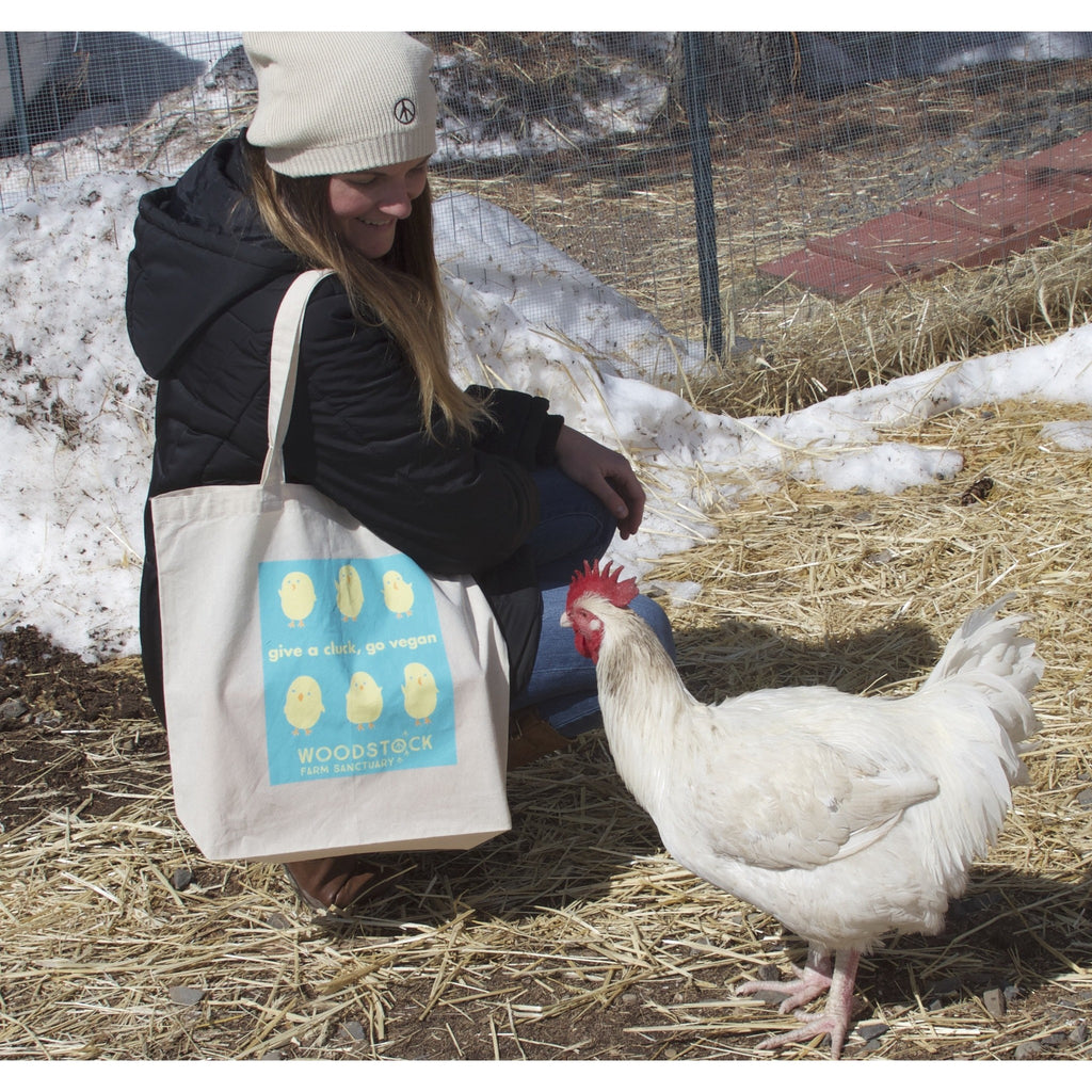 Give a Cluck, Go Vegan Tote