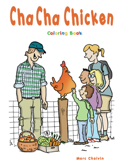 Cha Cha Chicken (Coloring Book)