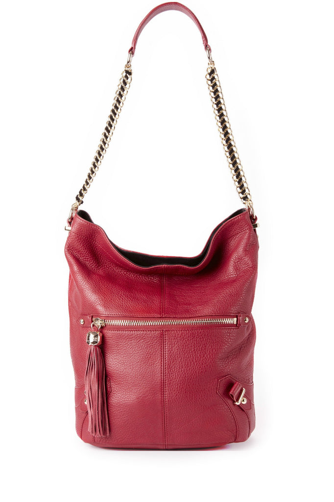 Isabella Bucket in Cranberry and Black