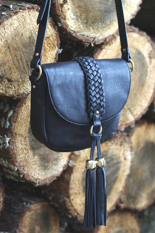 MYLA Small Saddle Bag | Black