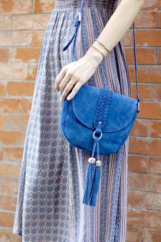 MYLA Small Saddle Bag | Denim Blue