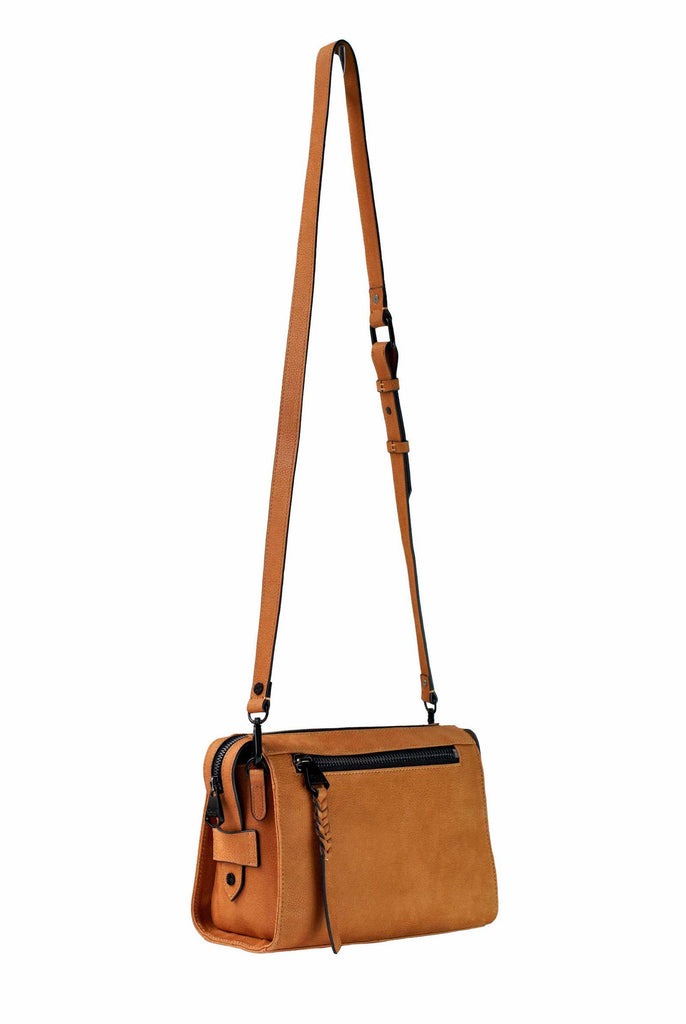 Lindsay Albanese x Dolce Vita Collection | Small Crossbody Satchel | Toffee (Brown)