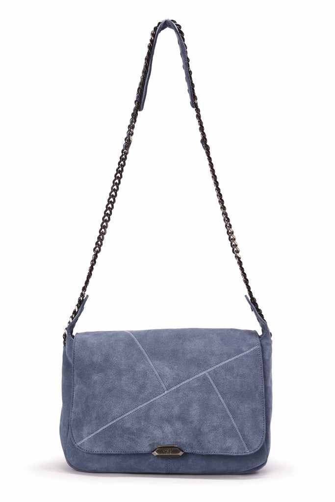 Luna Messenger in Dusty Blue