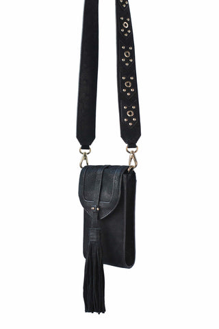 Madison Mini Phone Crossbody | Black