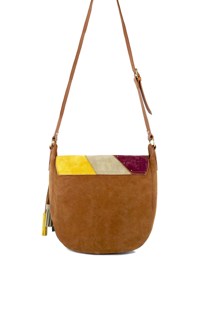 ANNA Saddle Bag | Walnut/Multi