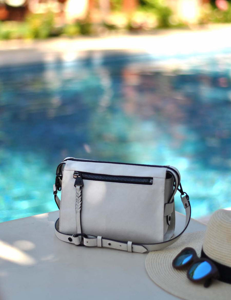 Lindsay Albanese x Dolce Vita Collection | Small Crossbody Satchel | Bone (White)