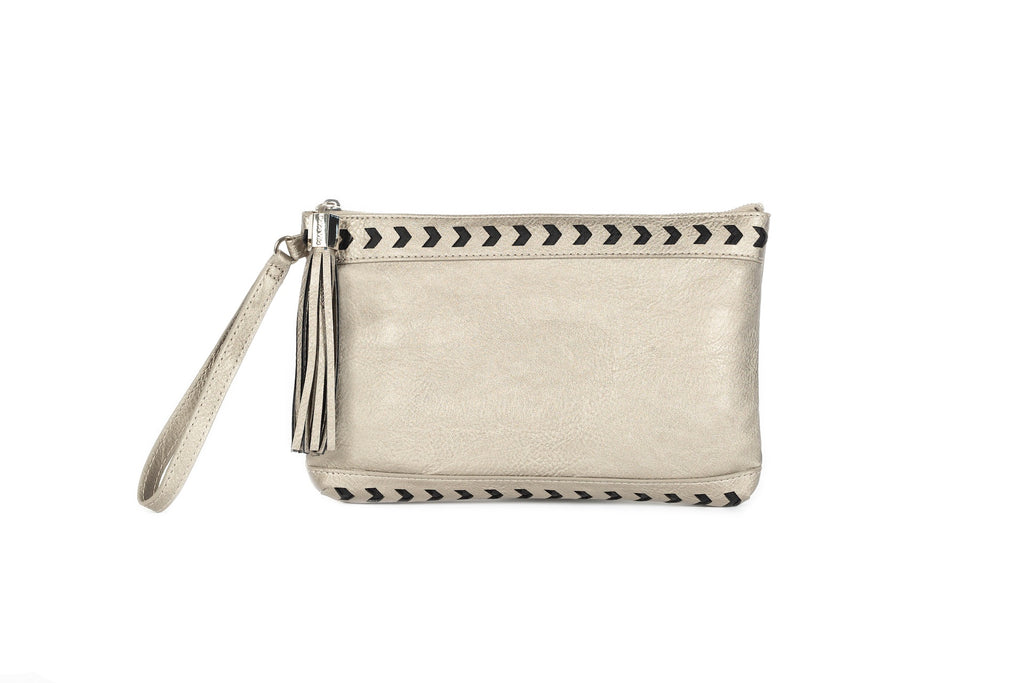 Square Clutch Pewter