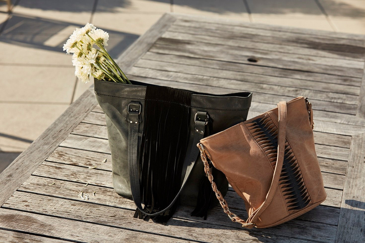 Dolce Vita Handbags x CHASE BUCKET IN LATTE