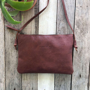 Leather Crossbody Bag Purse. ARA