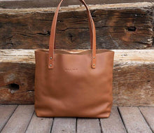 Load image into Gallery viewer, Leather Tote Bag  Smooth Full Grain Leather Tote Bag Cloud