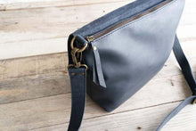 Load image into Gallery viewer, Leather Crossbody Bag - Dark UN basic