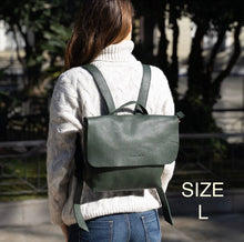 Load image into Gallery viewer, Leather Mini Backpack Smooth Full Grain Leather Gift UN BPK
