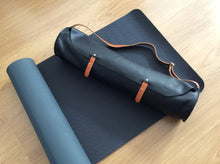 Load image into Gallery viewer, Leather bag, Yoga and Pilates Mat Leather Bag. Made with the best full grain leather