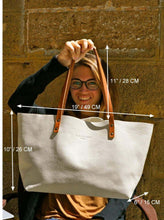 Load image into Gallery viewer, Leather Tote Bag Smooth Full Grain Leather Totebag Ter