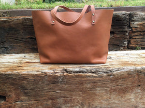 Leather Tote bag Handmade. TER