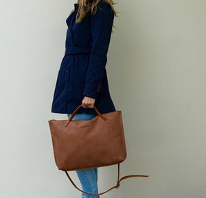 Leather Laptop - Tote Bag