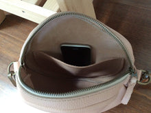 Load image into Gallery viewer, Leather Crossbody bag / Round Leather bag. Pam