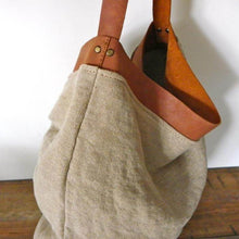 Load image into Gallery viewer, Leather Linen bag
