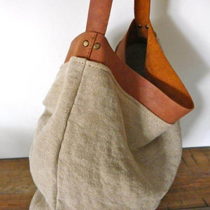 Leather Linen bag