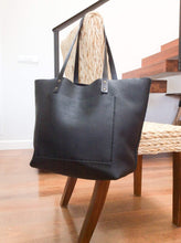 Load image into Gallery viewer, Leather Tote Bag Smooth Full Grain Leather Totebag Glo