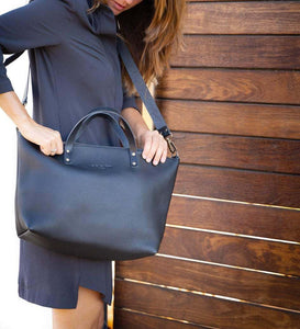 Leather Tote Bag Smooth Full Grain Leather Totebag Vega