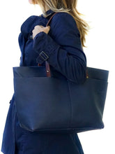Load image into Gallery viewer, Dark Blue Leather Tote bag - Bol