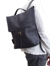 Load image into Gallery viewer, Leather Backpack Weekender Leather mens backpack  Bilbao
