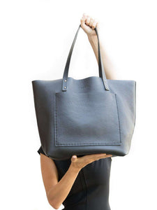 Leather Tote Bag Smooth Full Grain Leather Totebag Glo