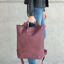 Load image into Gallery viewer, Leather bag, SALE 40% Off Backpack, Full grain Leather Backpack, handmade, Black backpack, Laptop work bag. Berlin