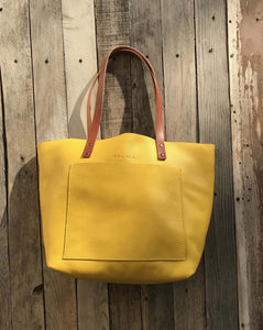 Leather Tote Bag Smooth Full Grain Leather Totebag Gift Glo
