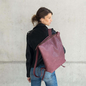 Leather bag, SALE 40% Off Backpack, Full grain Leather Backpack, handmade, Black backpack, Laptop work bag. Berlin