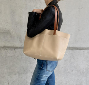 Leather Tote Bag - Bol