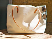Load image into Gallery viewer, Leather tote bag handmade Ter