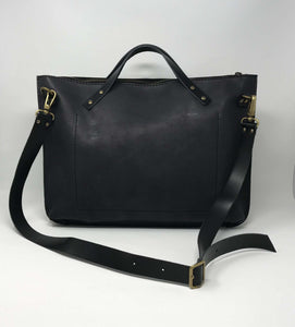 Leather Laptop-Tote Bag