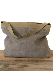 Linen Leather bag