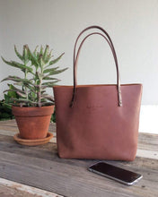 Load image into Gallery viewer, Leather Tote Bag - Smooth Full Grain Leather Totebag Gift  - BEL