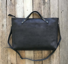 Load image into Gallery viewer, Leather Laptop-Tote Bag