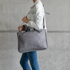 Leather Laptop / Tote Bag - Mile