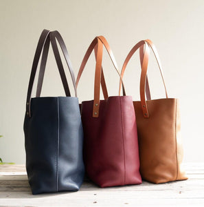 Leather Tote Bag - CLOUD