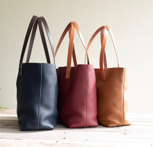 Load image into Gallery viewer, Leather Tote Bag Smooth Full Grain Leather Totebag Cloud