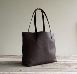 Leather Tote bag Handmade. Cloud auto.