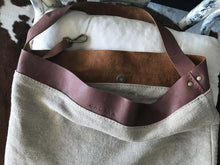 Load image into Gallery viewer, Linen Leather bag