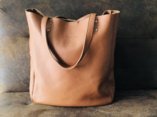 Load image into Gallery viewer, Leather Tote Bag Smooth Full Grain Leather Totebag Gift MAR