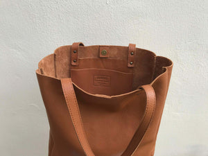 Leather Tote Bag Smooth Full Grain Leather Totebag Gift MAR