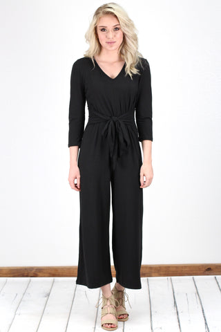 Black Overall Frayed Hem Dress