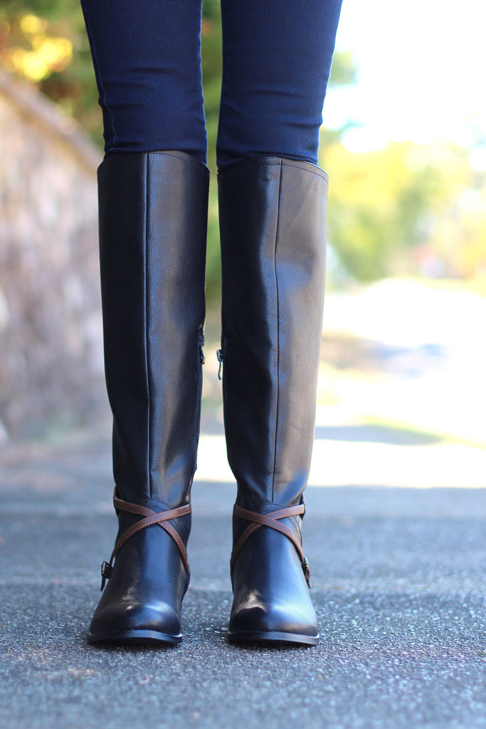 Very Volatile: Backyard Riding Boot {Black} - The Fair Lady Boutique - 2