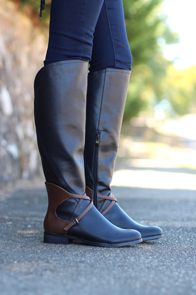 Very Volatile: Backyard Riding Boot {Black} - The Fair Lady Boutique - 1