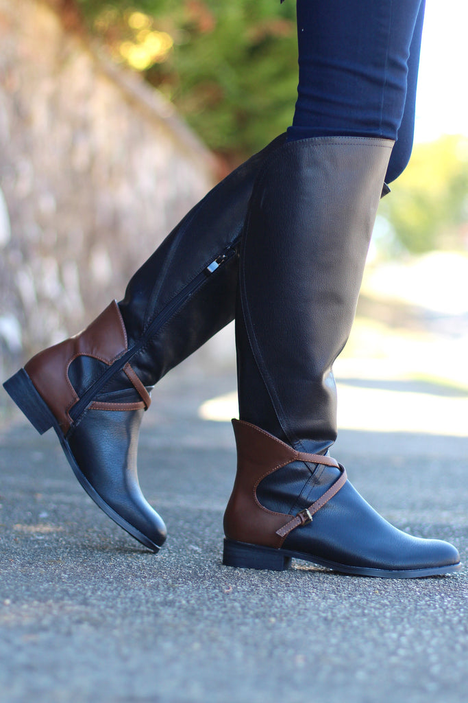 Very Volatile: Backyard Riding Boot {Black} - The Fair Lady Boutique - 3