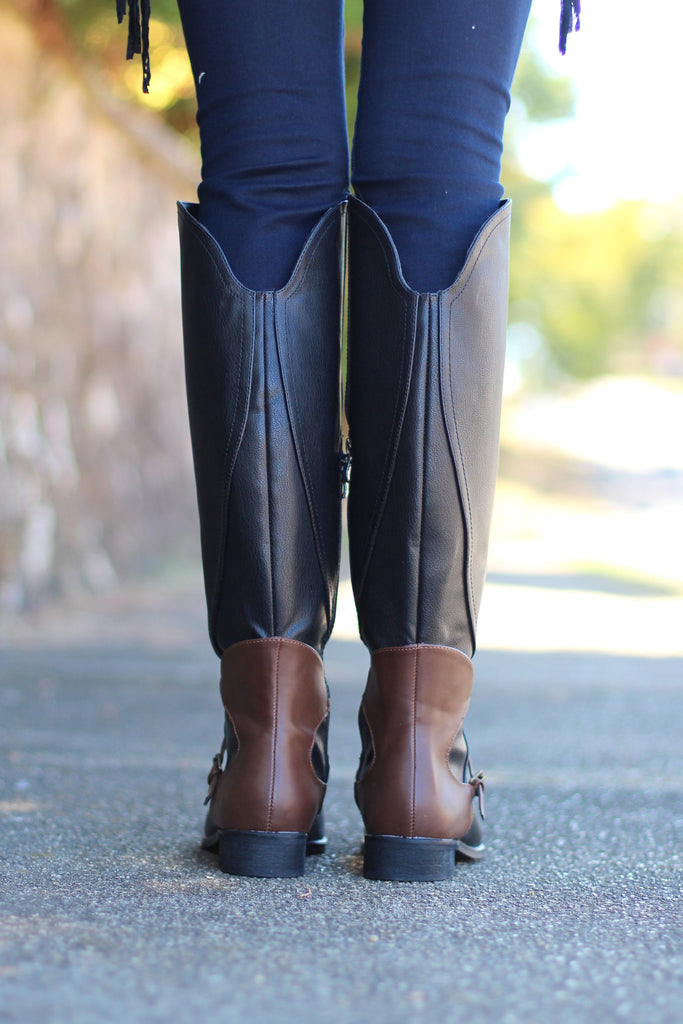 Very Volatile: Backyard Riding Boot {Black} - The Fair Lady Boutique - 4